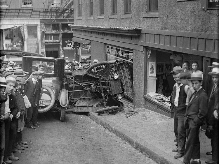 ДТП 30-х годов фотоколлекция: автомобильная авария_4