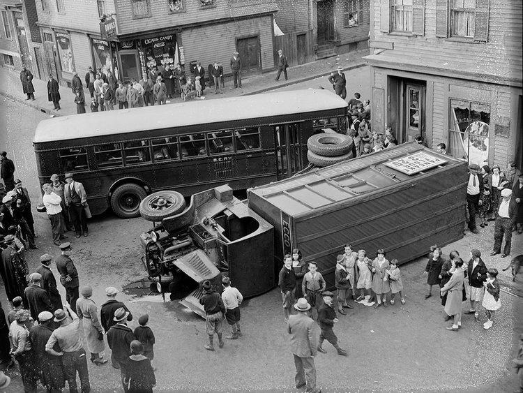 ДТП 30-х годов фотоколлекция: автомобильная авария_8