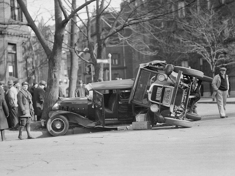 ДТП 30-х годов фотоколлекция: автомобильная авария_10