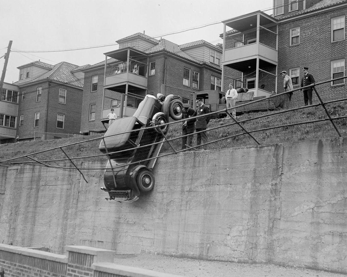 ДТП 30-х годов фотоколлекция: автомобильная авария_3