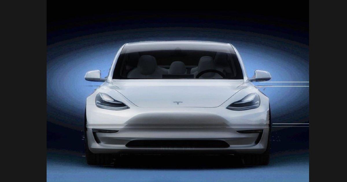 рендеринг Tesla Model Y