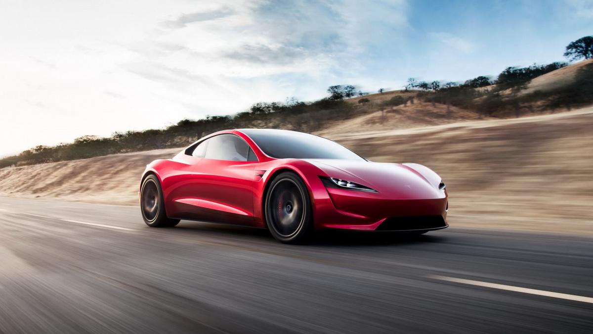 Разгон от 0 до 100 км/ч меньше, чем за 3 секунды - Tesla Roadster