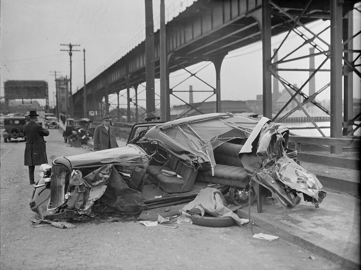 ДТП 30-х годов фотоколлекция: автомобильная авария_7