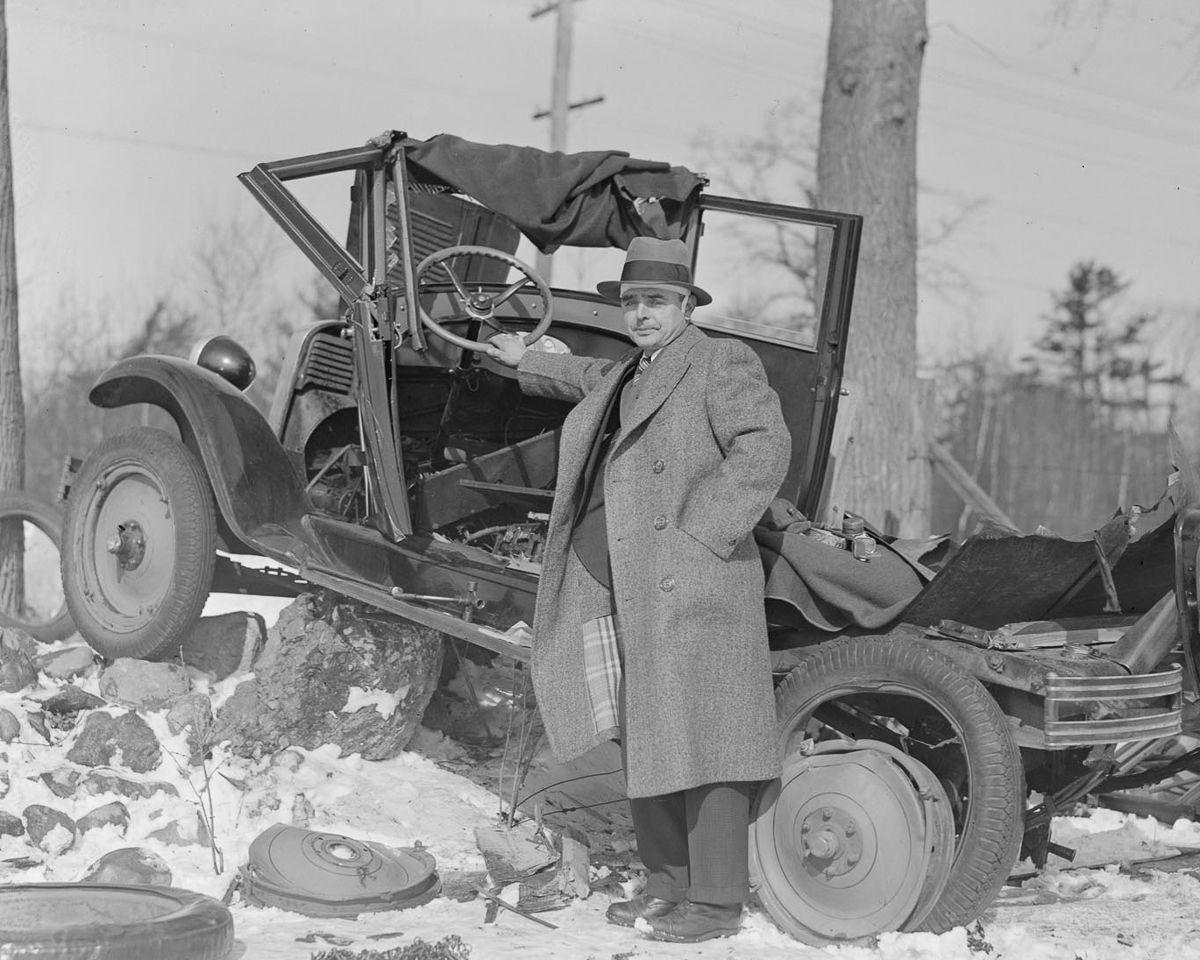 ДТП 30-х годов фотоколлекция: автомобильная авария_2