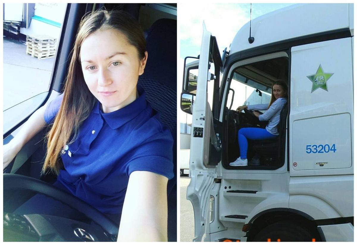 женщины-дальнобойщицы- украинская дальнобойщица Елена Дровняк