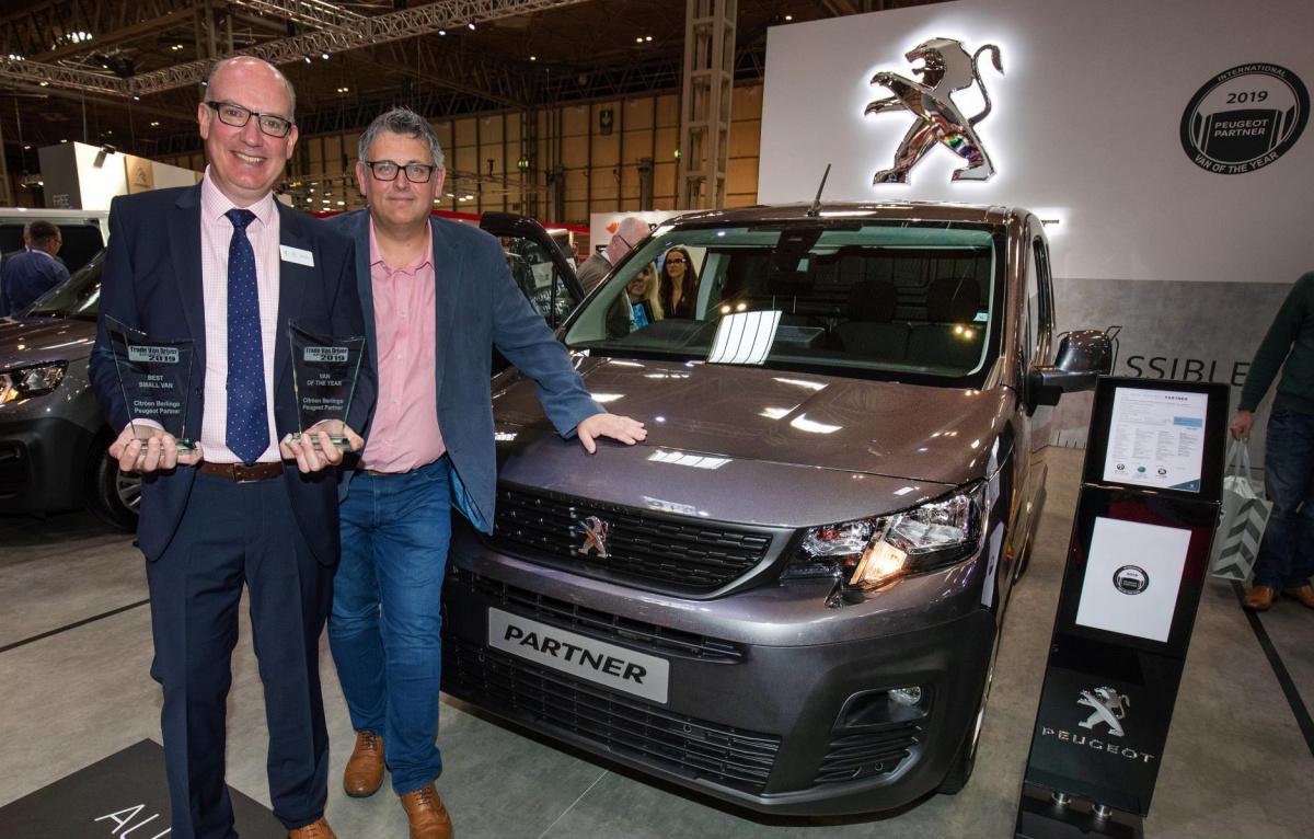 Peugeot Partner - Фургон года 2019 в конкурсе британского изданияTrade Van Driver Magazine