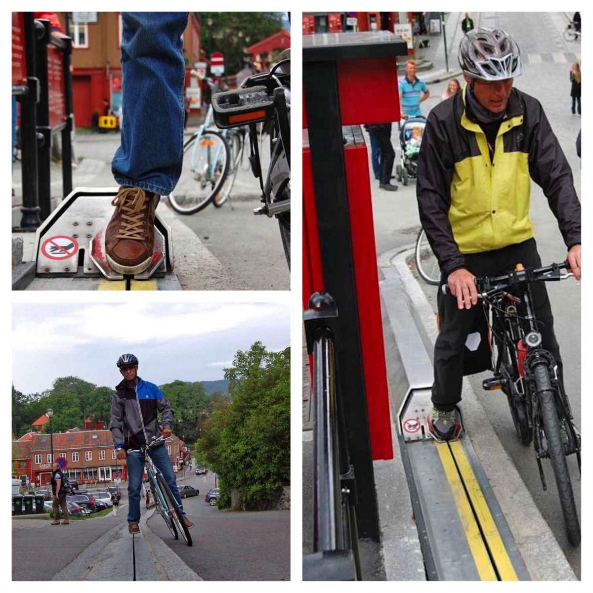 инфраструктурные проблемы - эскалатор для велосипедистов
