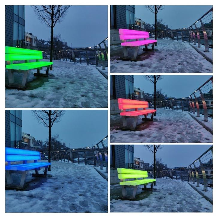 инфраструктурные проблемы - светодиодные скамейки
