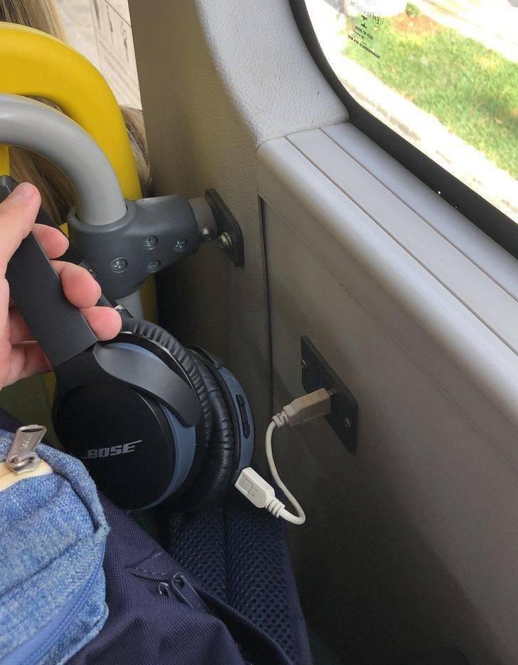 инфраструктурные проблемы - USB-порты в автобусах