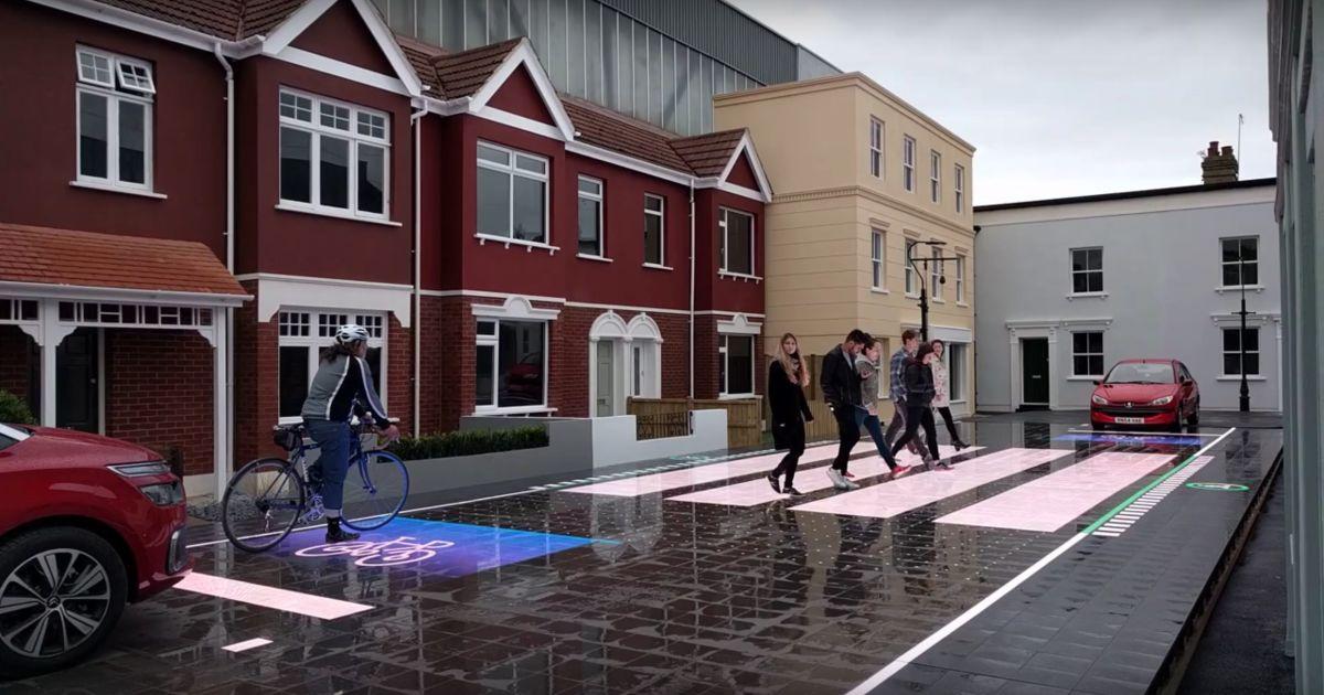 инфраструктурные проблемы: интерактивный пешеходный переход