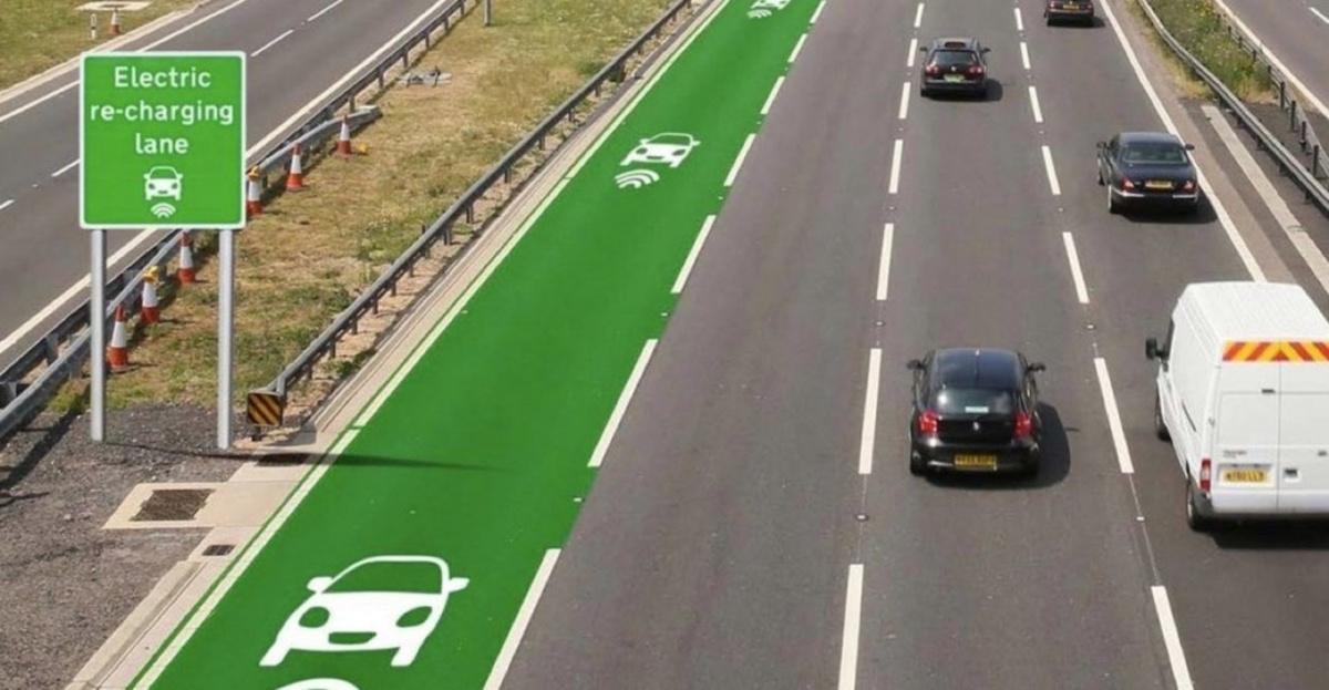 инфраструктурные проблемы - полоса дороги для подзарядки электрокаров