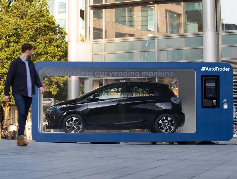 Автобизнес             Электромобиль Renault начали продавать в торговом автомате