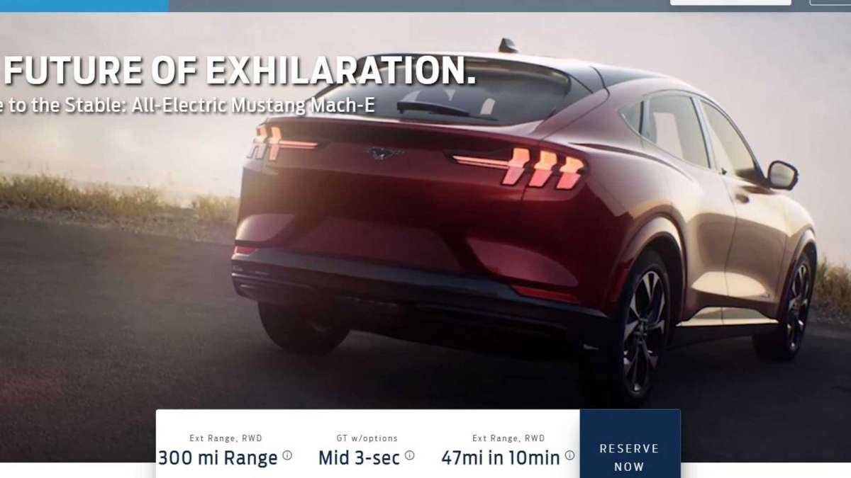 Электрический кроссовер Ford оказался похожим на Mustang и Tesla