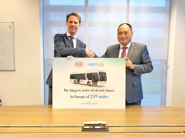Компания BYD поставит в Европу рекордное количество электробусов