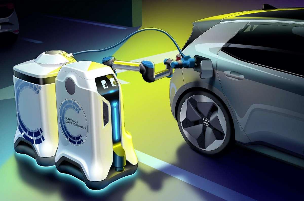 Новые электромобили Volkswagen будут заряжать очень необычным способом