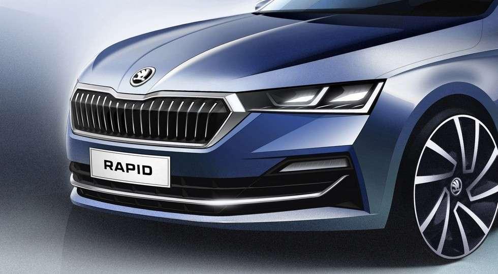 Новый седан Skoda Rapid 2020 рассекречен на официальных изображениях