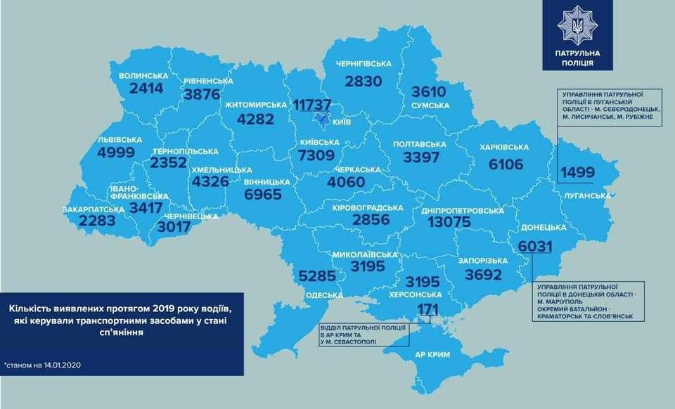 статистика по всем городам Украины