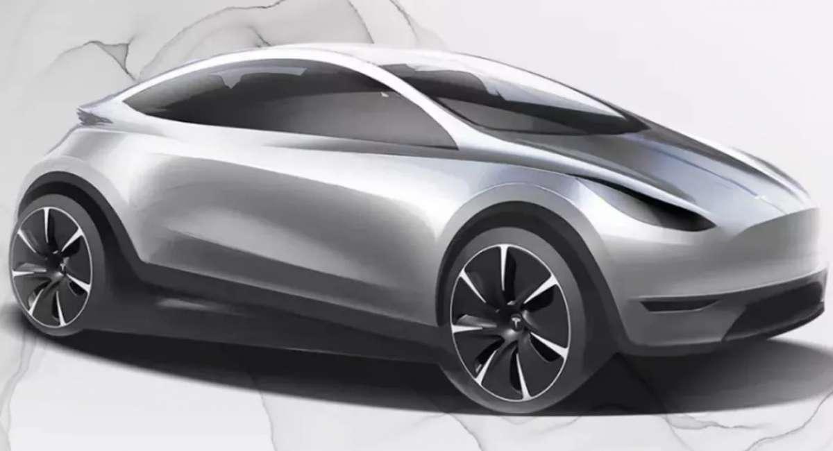 Компания Tesla показала вглобальной сети дизайн нового электрокара