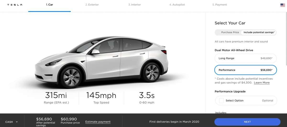 Новейший электрокроссовер Tesla стал самым эффективным в классе